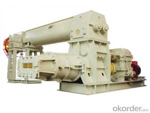 brick making machine-two stage vacuum extruder