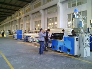 PVC electrical threading pipe production line / thread pipe / tube machine