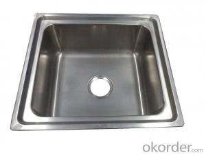 500*460mm Square Shape Stainless Steel Cleaner's Sink