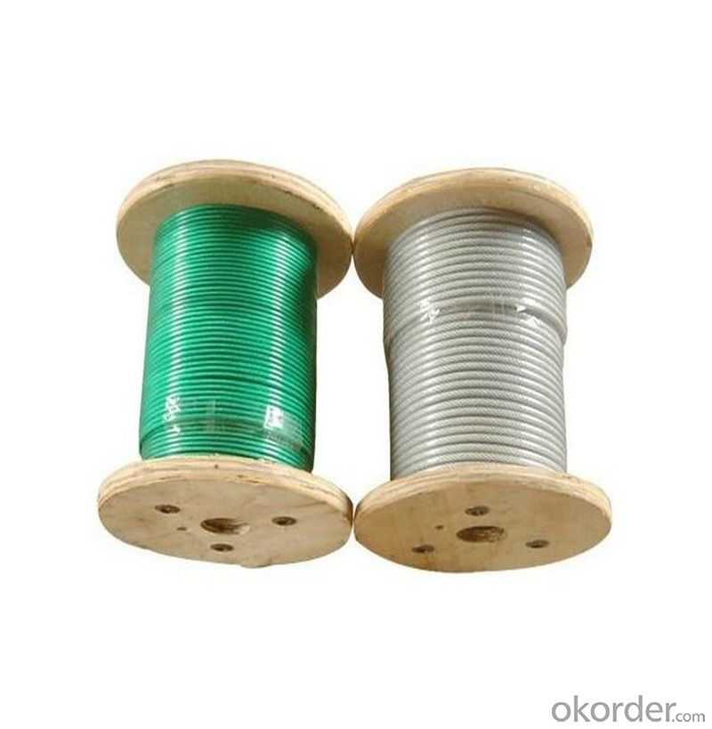 Kinds of Color Plastic Coated Steel Wire Rope Hot Sale and High Quality