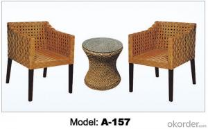 Hot sale Leisure garden Rattan Outdoor furniture (2+1)  A-157