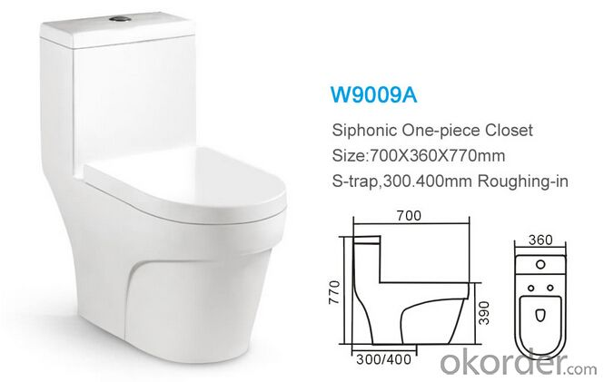 Sanitary ware factory siphonic ceramic wholesale dual flush one piece toilet