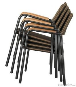 PE Rattan Cheap Dark Brown Rattan Chairs Outdoor Furniture HS-2439