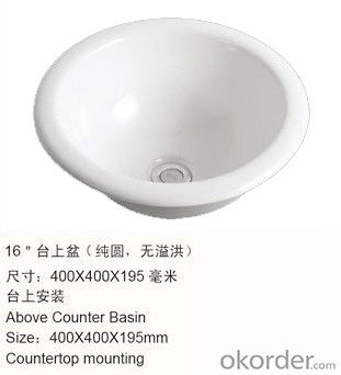 counter basin for wash hand with the ceramic basin  - 508