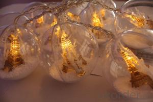 Battery Lights String with Ball Ornament