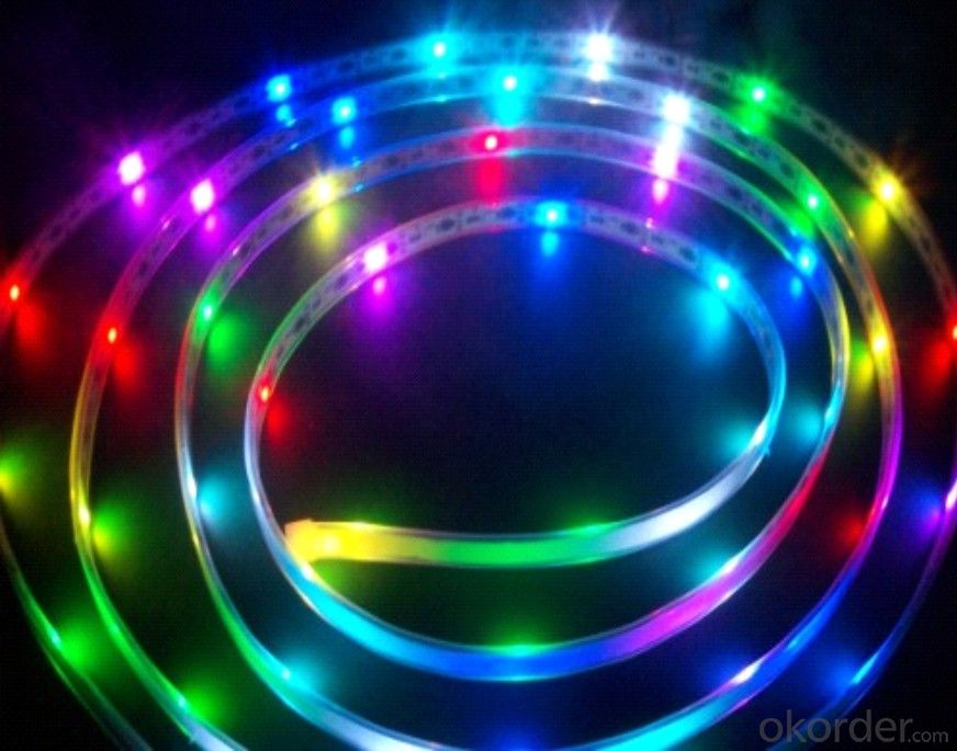 Led Strip Light DC 12/24V / 5V  SMD 5050 RGB  30 LEDS PER METER  OUTDOOR IP68 PU GLUE PLUS TUBE