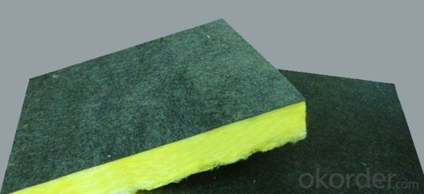 glass wool blanket glasswool board with black tissue