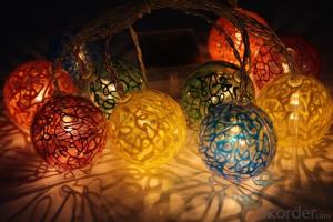 Battery Lights String with Color Ball Ornament