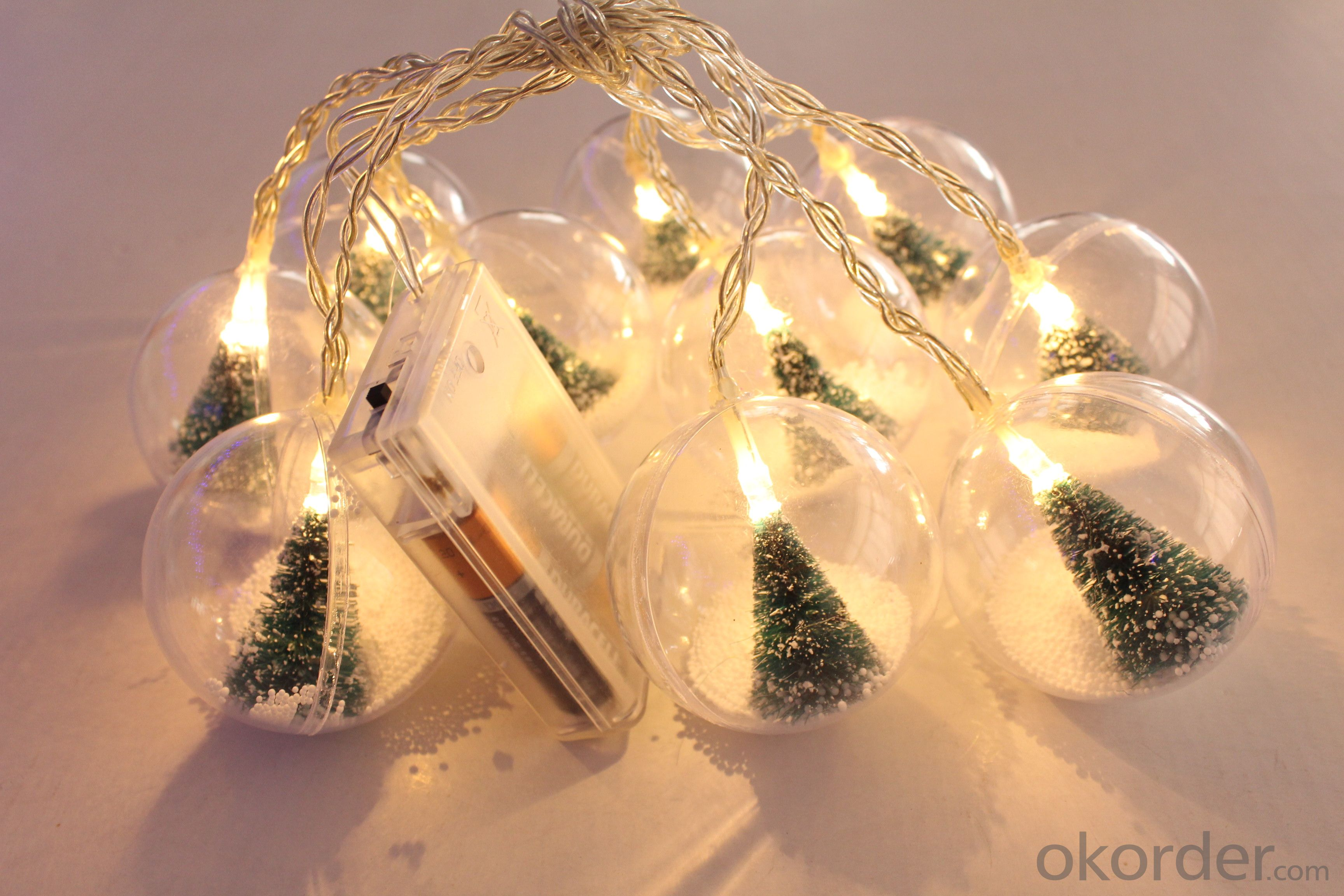 Battery Lights String with Tree Ball Ornament