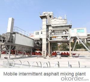 Mobile intermittent asphalt mixing plant