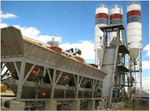 Skip-type concrete mixing plant,Quick installation