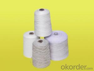 Natural color 100% recycled cotton yarn