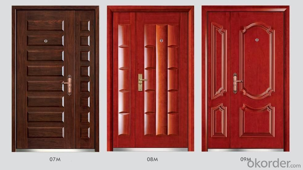 Steel Wooden Armored Doors for Decoration