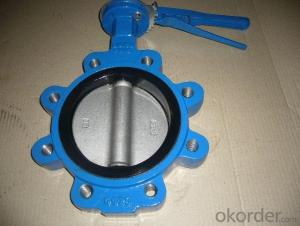 Lug Type Butterfly Valve Without Pin Ductile Iron DN70