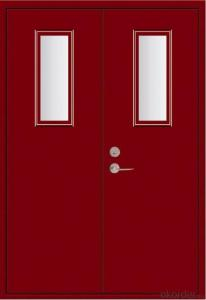 Powder Coating Anti Steel Fire Door different color