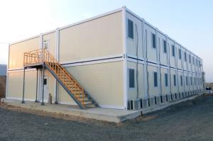 Factory made and installed container modular office and hotel building