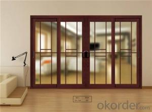 popular different design wooden glass sliding door