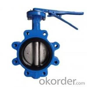 Lug Type Butterfly Valve Without Pin Ductile Iron DN140