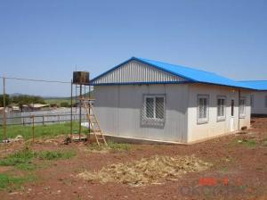 Prefabricated House Sandwich Panel Steel Structure Africa