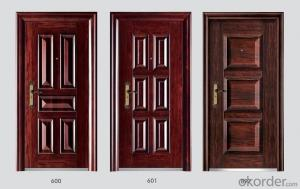 Standard Steel Security Doors with Various of Designs