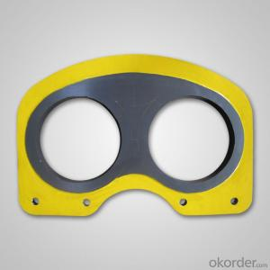 spectacle wear plate for IHI concrete pumps