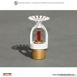 pendent white UL Fire Sprinklers used in fire fighting