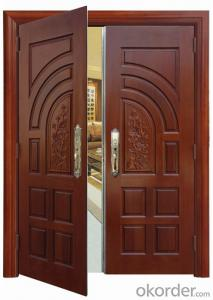 exterior doble leaves steel security door