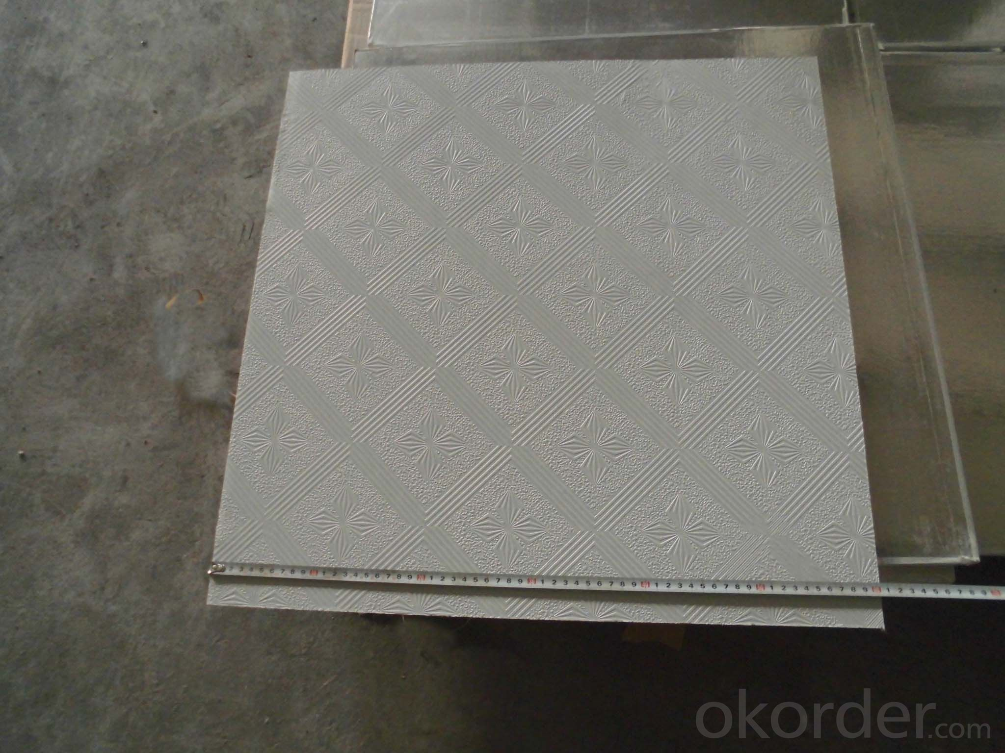 Buy Pvc Laminating Gypsum Ceiling Tiles For Decoration Pricesize