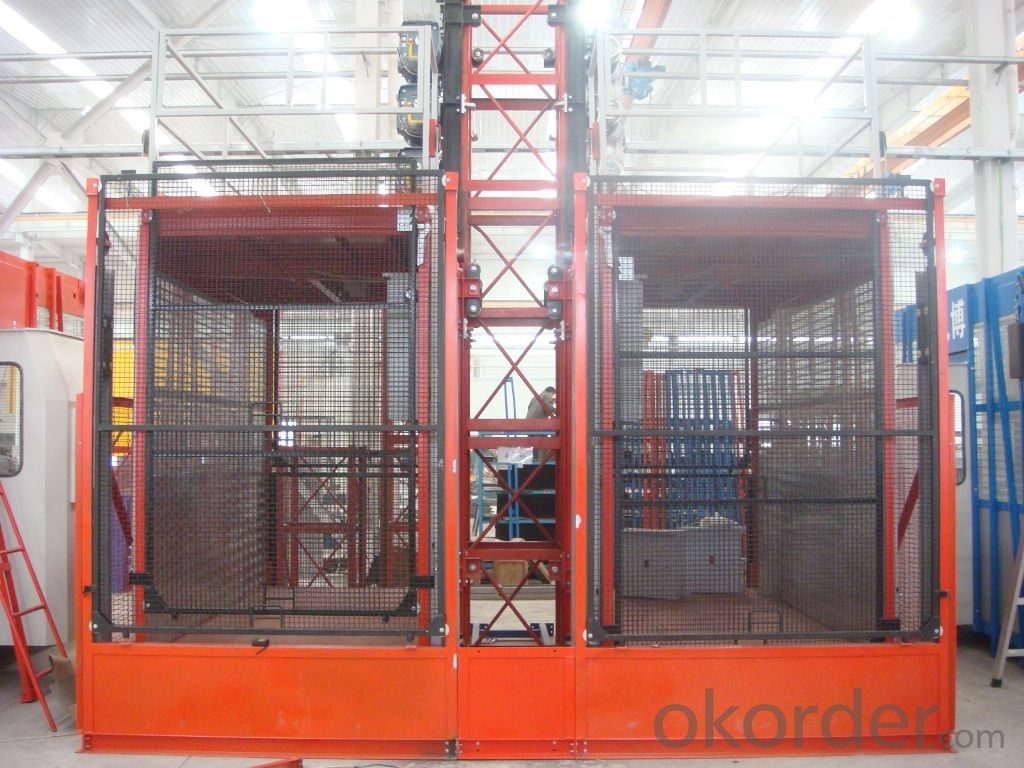 0-63m/min SC100G construction lift hoist