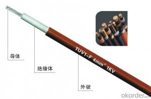 solar pv cable 6mm2 0.6/1kv low smoke  zero halogen flame retardant pv cable