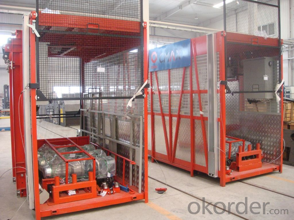 0-46m/min SC200G construction material lift