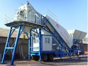 Mobile Concrete Mixing Plant  Concrete Batching Plant  75 cubic meter per hour