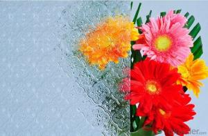 Temperable grade -clear pattern glass- Flora