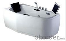 Deluxe hydro massage extra long bathroom bathtub