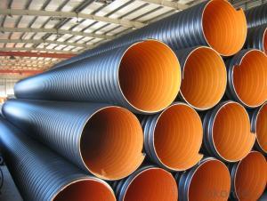 steel band reinforced hdpe steel belt corrugated pipe