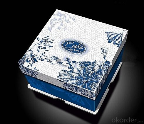beautiful cheese cake box food package in China