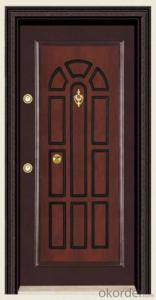 Turkey Style Steel Wooden Armored Doors in Standard Sizes