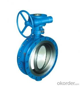 DN500 Turbine Type Butterfly Valve with Hand wheel BS Standard