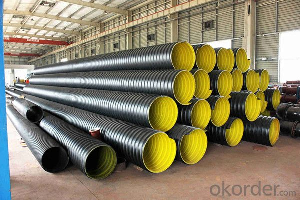 Buy pvc pipe large diameter steel reinforced corrugated price size