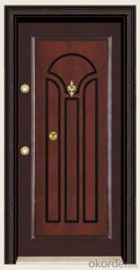 Standard Turkey Style Steel Wooden Armored Doors