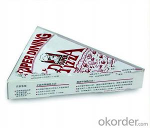cheap triangle pizza box food package price