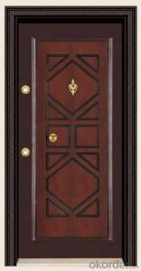 Hot Sale Turkey Style Steel Wooden Armored Doors