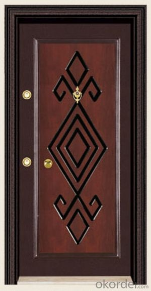 Standard Turkey Style Steel Wooden Armored Doors with Good Prices
