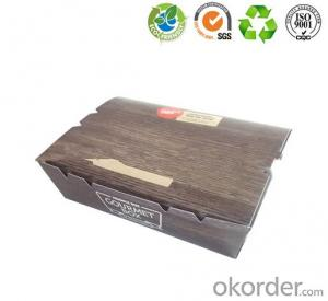 Customized fast food packaging box / paper food package