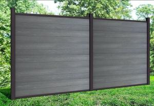 DIY Fence of Alu. parts and wood plastic composite board