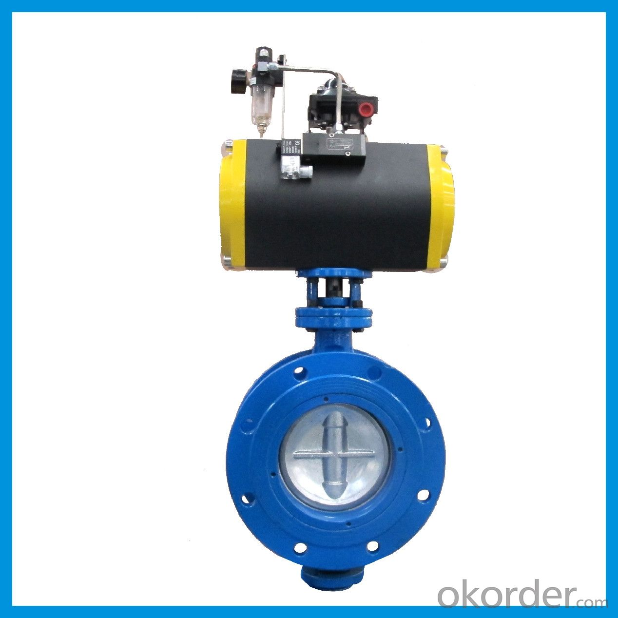 Pneumatic Butterfly Valve With Eccentric Double Flange  DN150