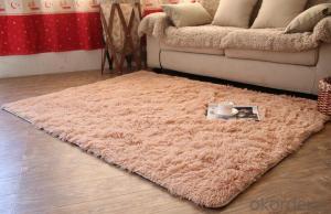Carpet Polyester Shaggy Carpet / Rug factory
