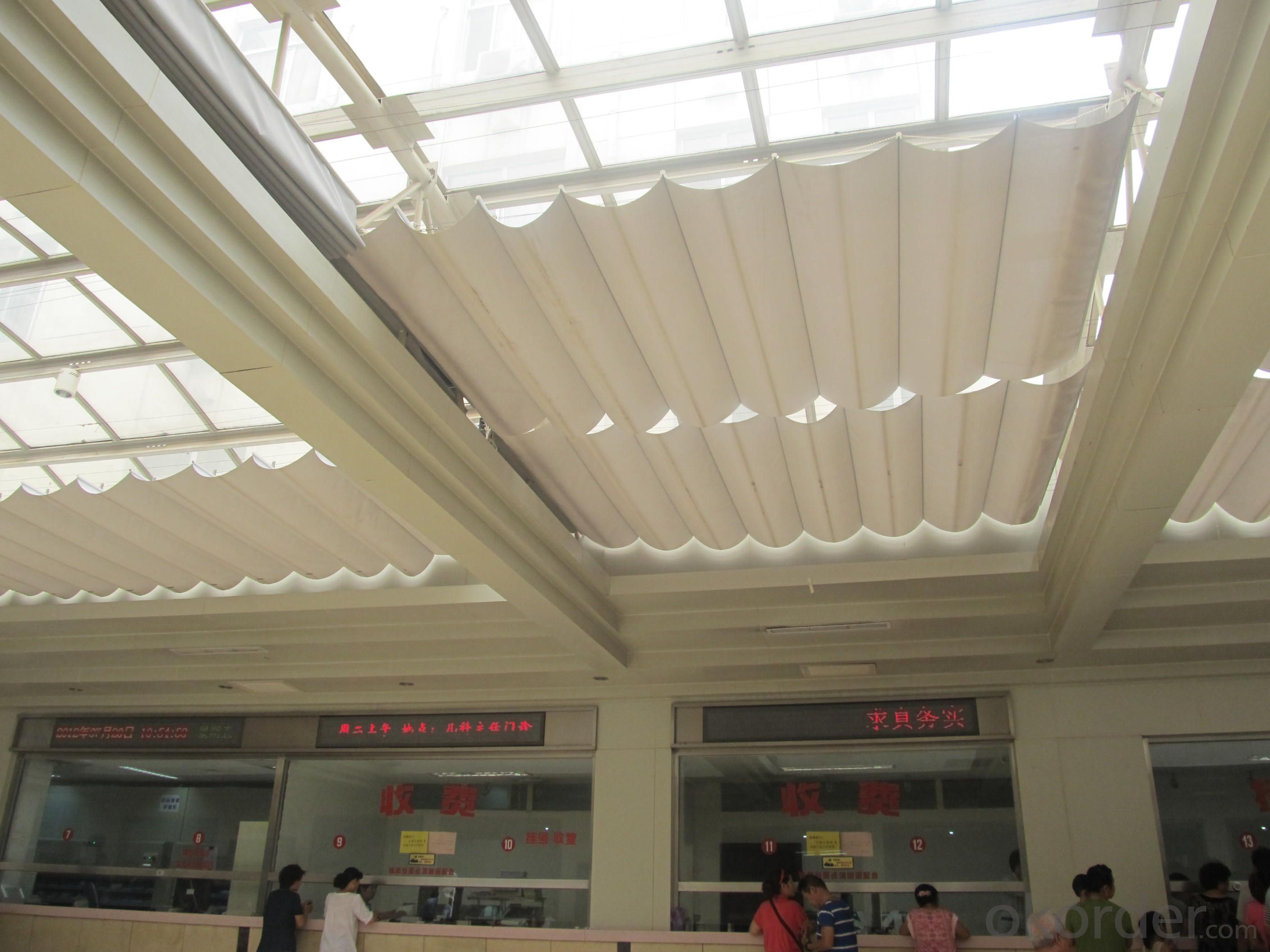 FCS Folding Skylight Blinds System for Public  Sunshade Building