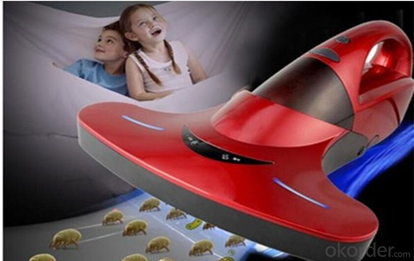portable vacuum cleaner with uv light for bed