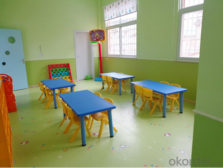 Public place decorative pvc flooring for children
